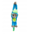 Pluche hang aap turquoise 48 cm
